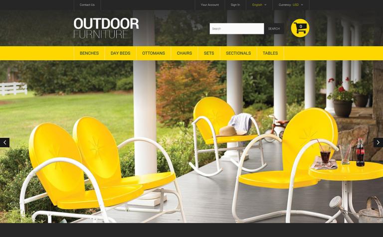 Stylish Outdoor Furniture PrestaShop Theme