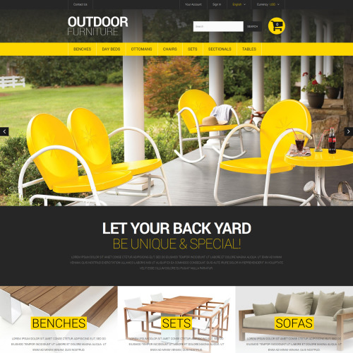 Outdoor Furniture - PrestaShop Template based on Bootstrap