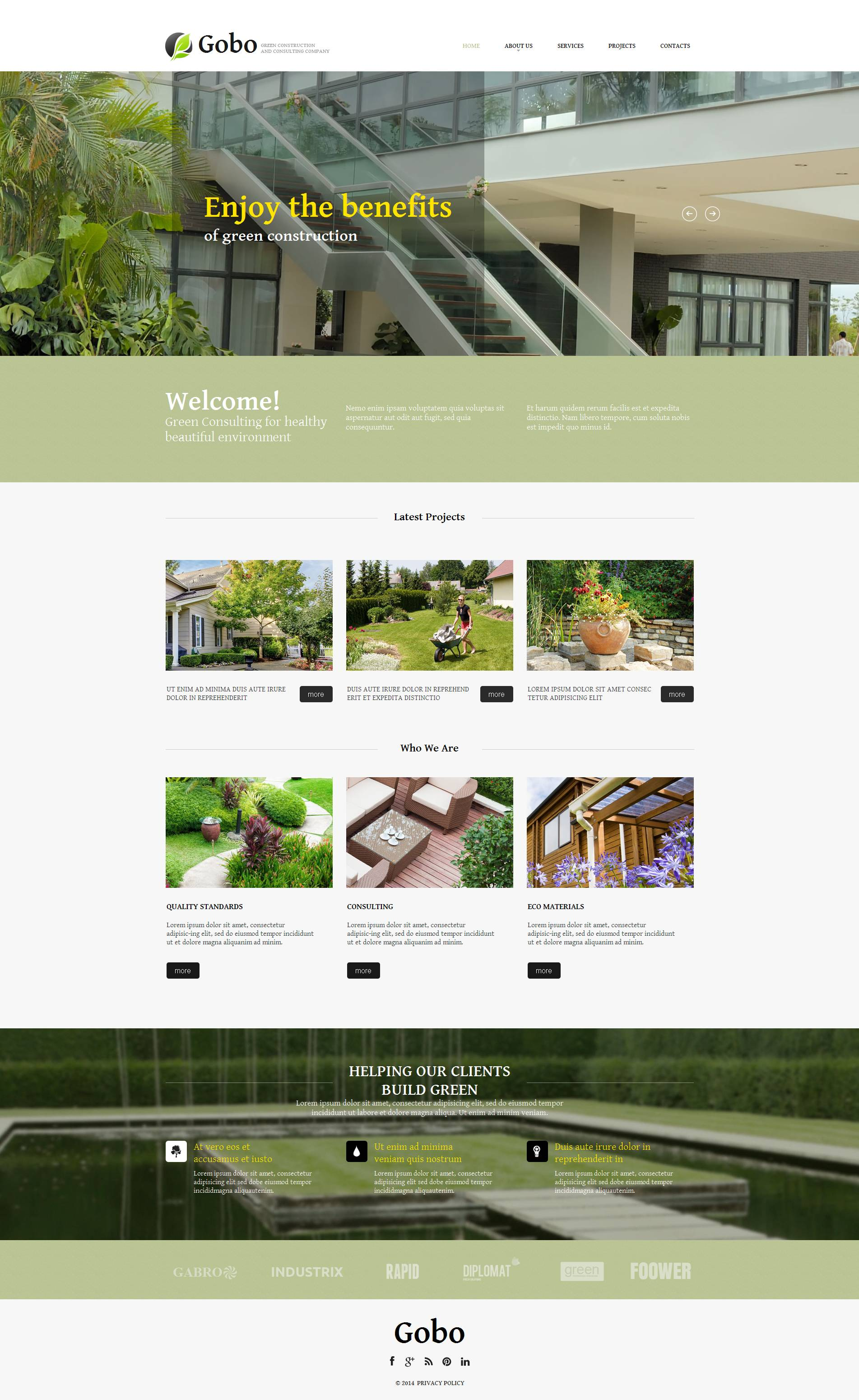 Szablon Moto CMS HTML #52219 na temat: architektura krajobrazu