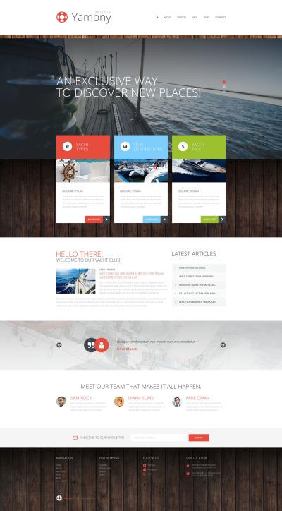 Template WordPress Responsive #52270 per Un Sito di Yachting #52270