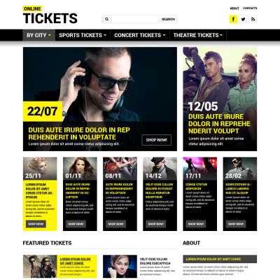 tickets website templates templatemonster