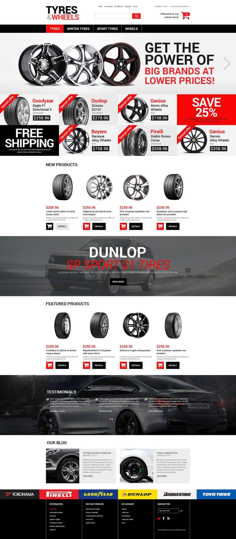 Wheels and Tyres Magento Theme New Screenshots BIG