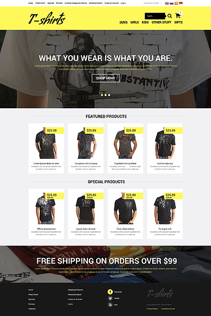 osCommerce Template 52303 Main Page Screenshot