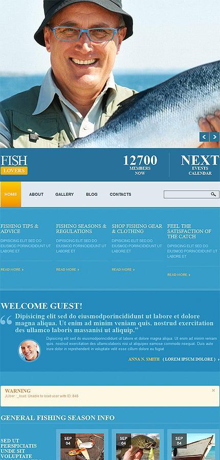 Joomla Theme/Template 52316 Main Page Screenshot