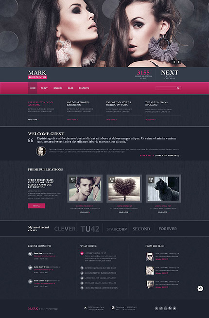 Joomla Theme/Template 52317 Main Page Screenshot