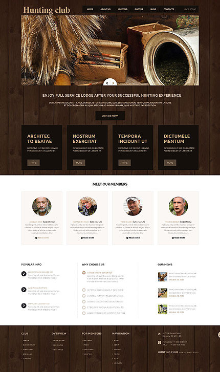 Joomla Theme/Template 52319 Main Page Screenshot