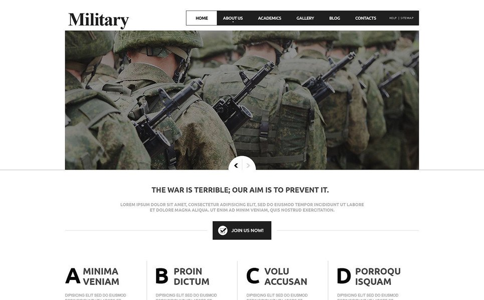 Responsive Joomla Template over Militaire New Screenshots BIG