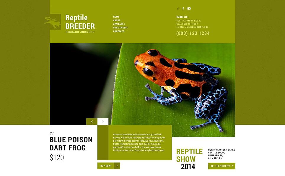 Responzivní Šablona webových stránek na téma Exotická zvířata New Screenshots BIG