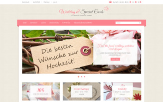 Special Occasion Cards Magento Theme