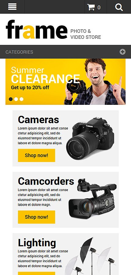 Magento Theme/Template 52327 Main Page Screenshot