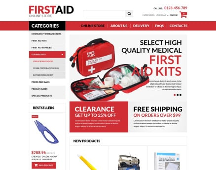 First Aid Store VirtueMart Template