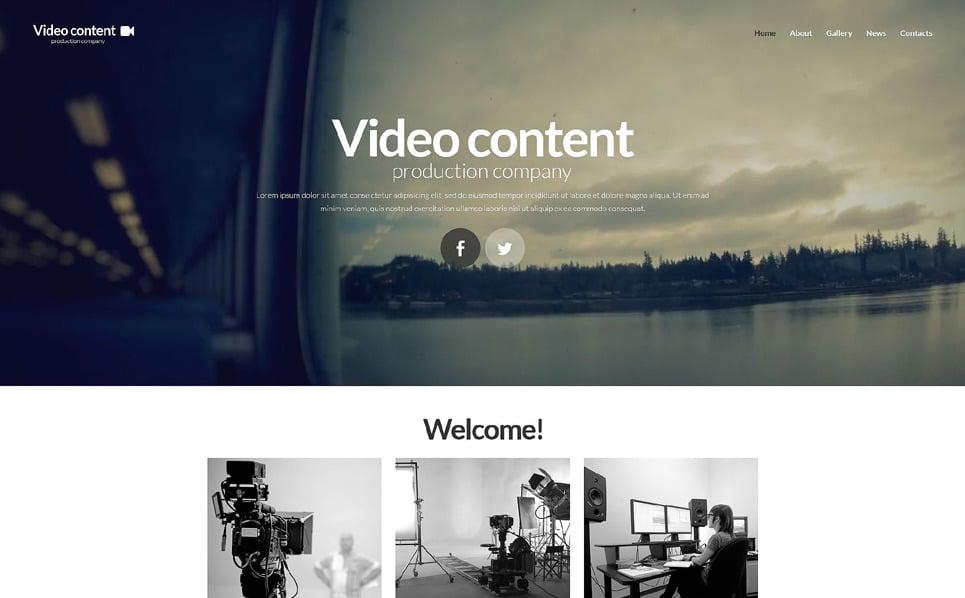 Адаптивний Шаблон сайту на тему відеостудія New Screenshots BIG