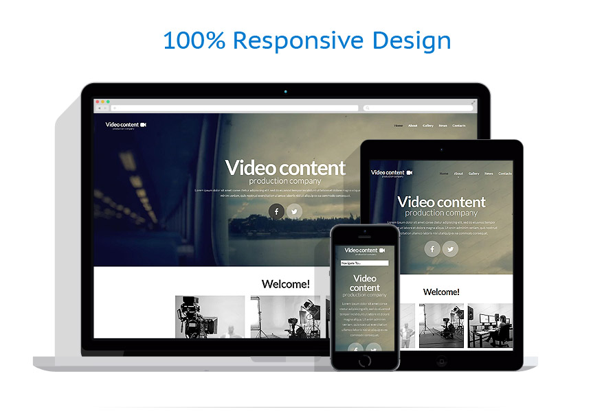 Video Production Website Template #52335