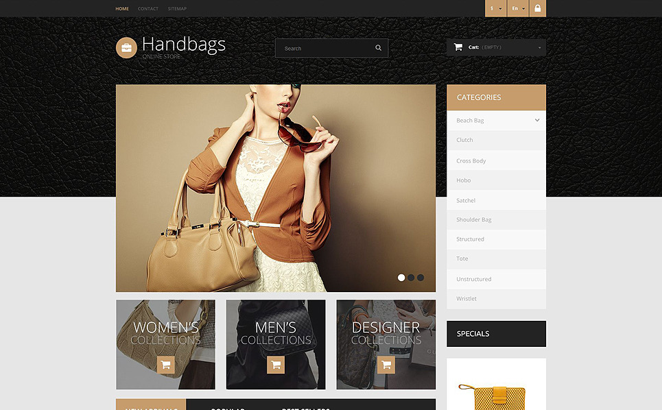 Tema PrestaShop  Flexível para Sites de Bolsas №52339 New Screenshots BIG