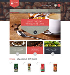 Cafe & Restaurant PrestaShop Template 52340