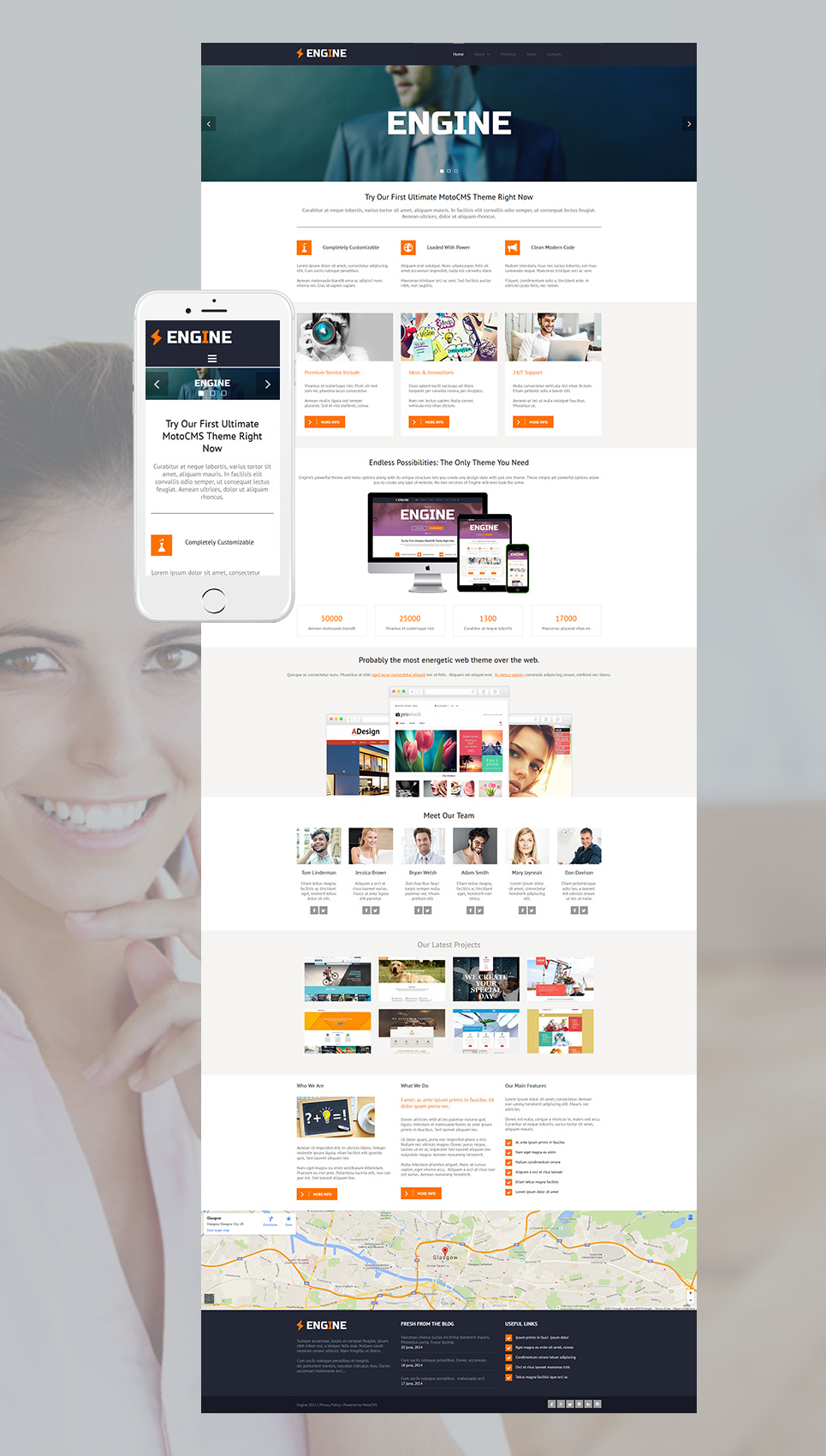 Responsive Business Web Template - image