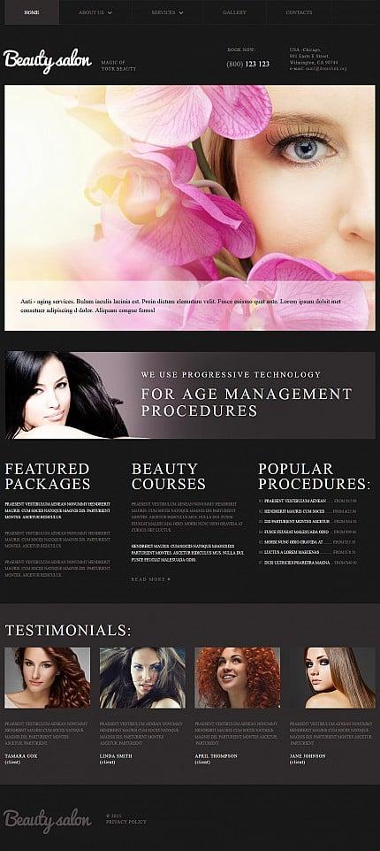ADOBE Photoshop Template 52344 Home Page Screenshot
