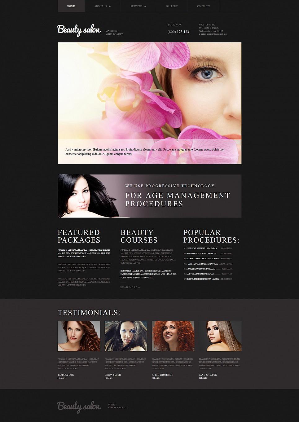 Beauty Salon Responsive Site Template - image