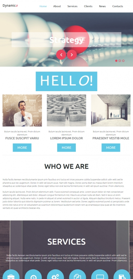 ADOBE Photoshop Template 52346 Home Page Screenshot