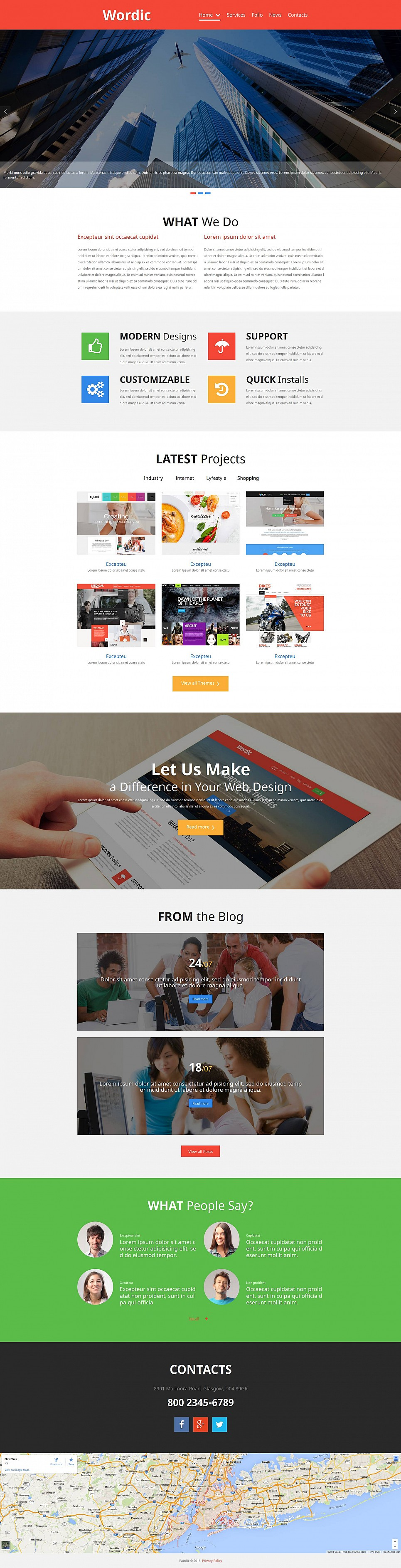 Web Design Company Theme - image