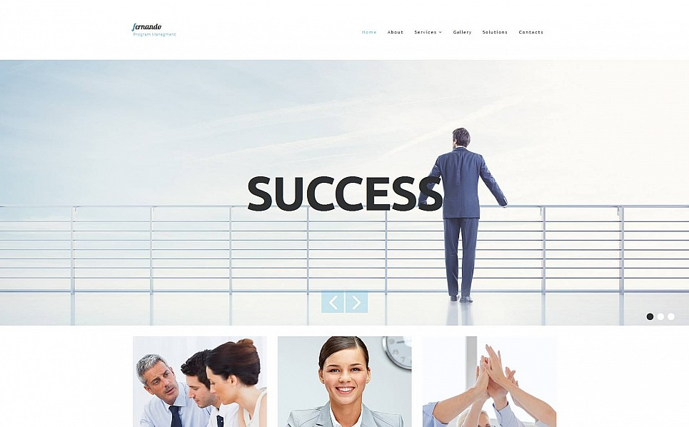 Template Moto CMS 3 Responsive #52348 per Un Sito di Business e Servizi New Screenshots BIG