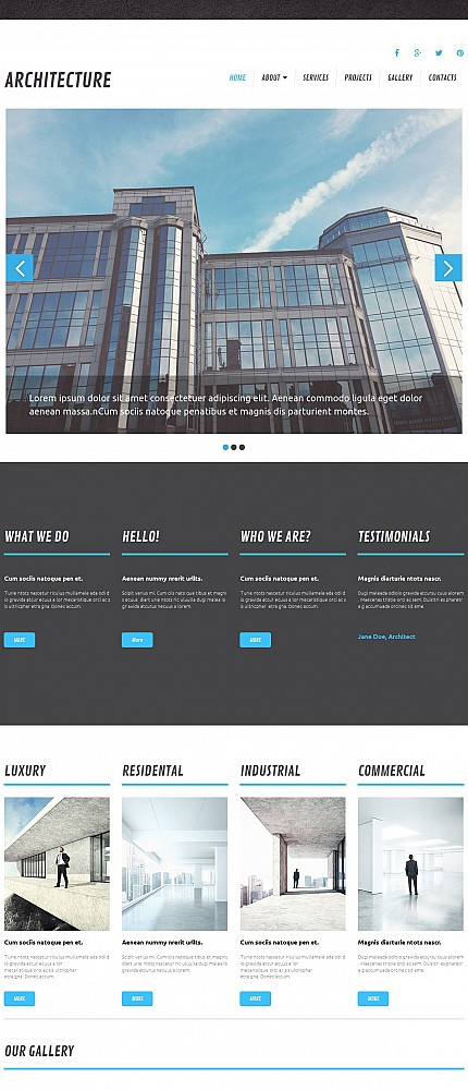 ADOBE Photoshop Template 52349 Home Page Screenshot