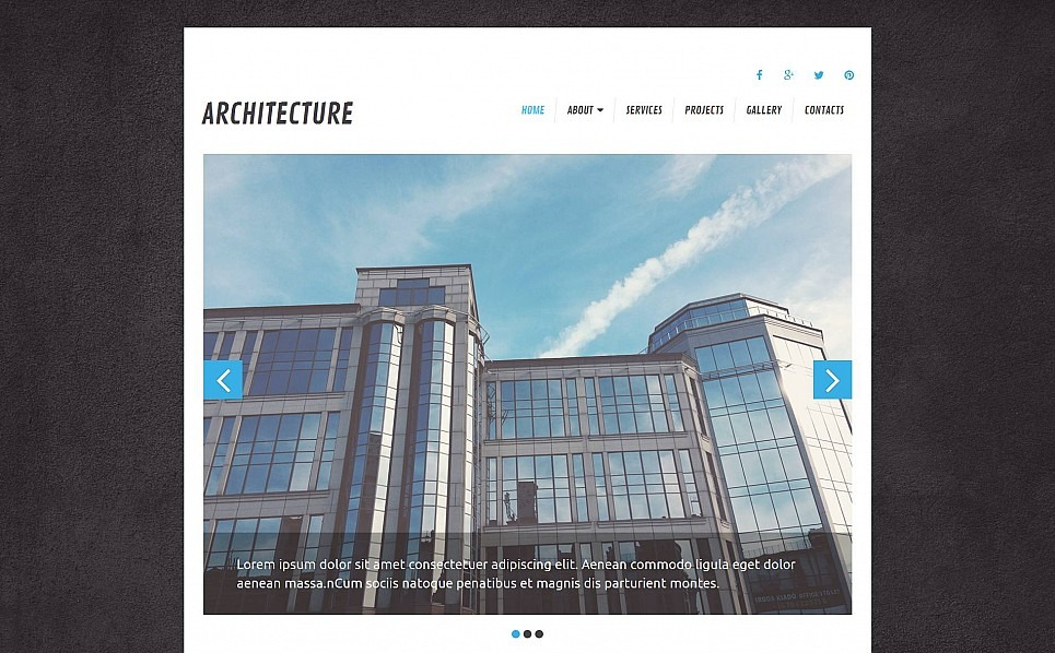 Modèle Moto CMS 3 adaptatif  pour site d'architecture New Screenshots BIG