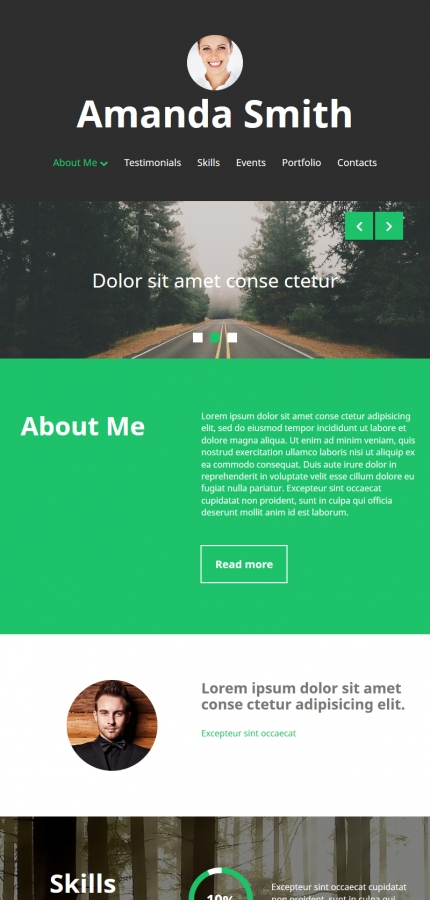 ADOBE Photoshop Template 52351 Home Page Screenshot