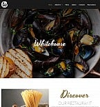 Cafe & Restaurant Moto CMS 3  Template 52352