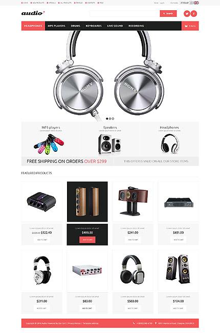 ZenCart Template 52356 Main Page Screenshot
