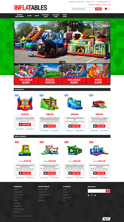 Magento Theme/Template 52376 Main Page Screenshot