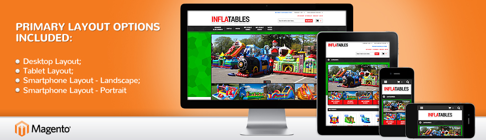 Template #52376 Inflatable Bouncer Magento Theme - Real Size Screenshot