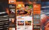 Responsivt Hemsidemall för BBQ-restaurang New Screenshots BIG