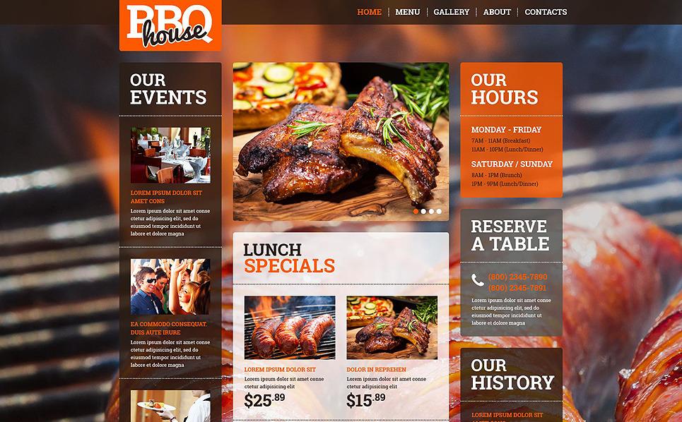 Адаптивний Шаблон сайту на тему bbq ресторан New Screenshots BIG