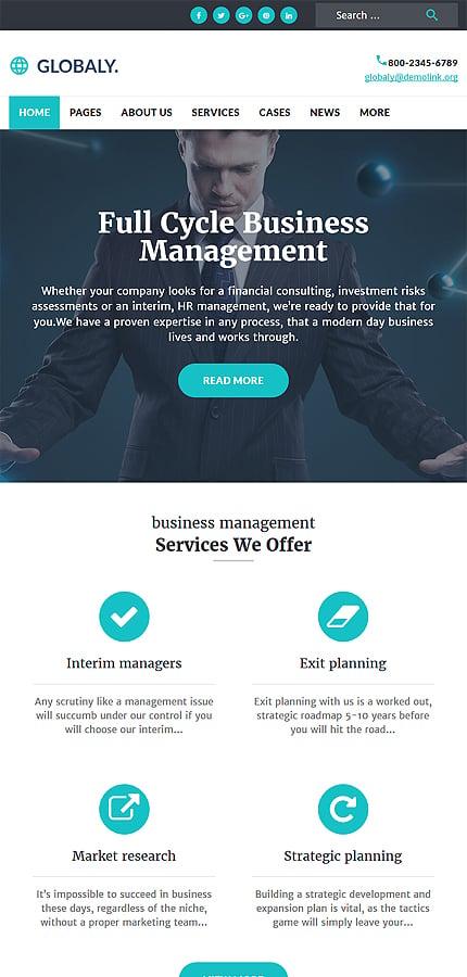WordPress Theme/Template 52382 Main Page Screenshot