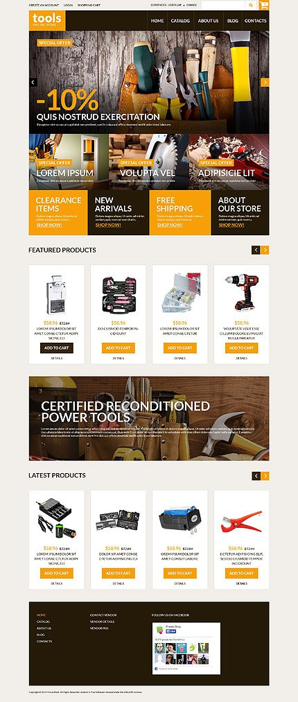 ADOBE Photoshop Template 52384 Home Page Screenshot
