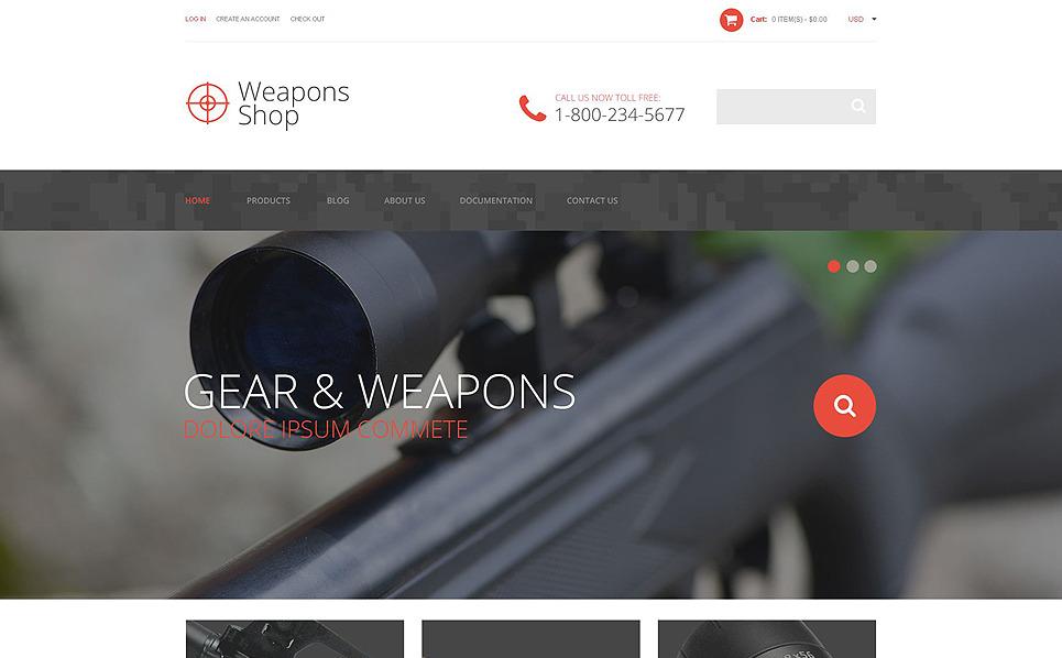 Responsive Shopify Thema over Wapenwinkel  New Screenshots BIG