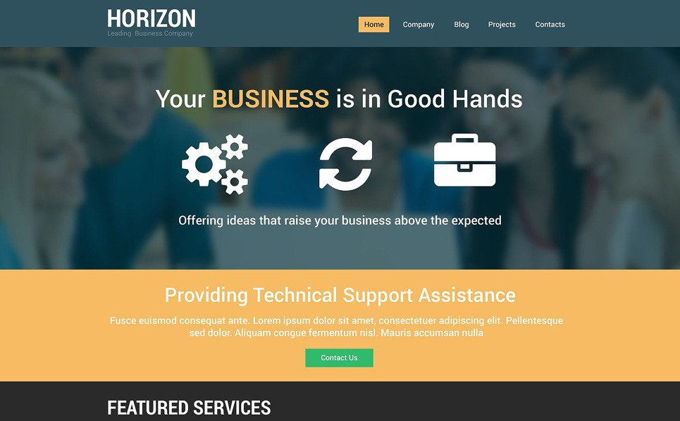 Plantilla Drupal Responsive para Sitio de Negocio y Servicios New Screenshots BIG