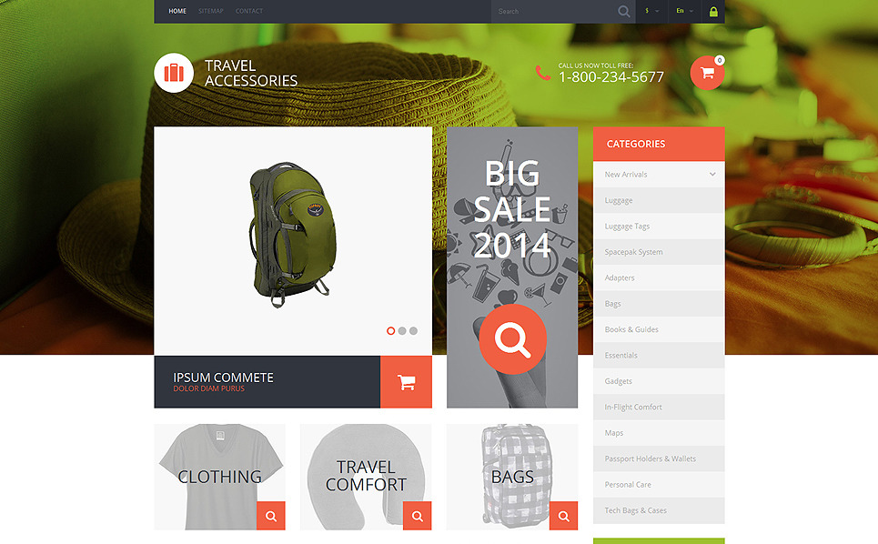 Responsive PrestaShop Thema over Reiswinkel  New Screenshots BIG