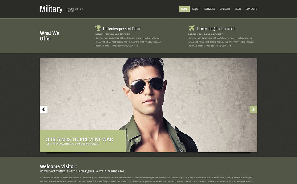 Modèle Web adaptatif  pour site militaire New Screenshots BIG