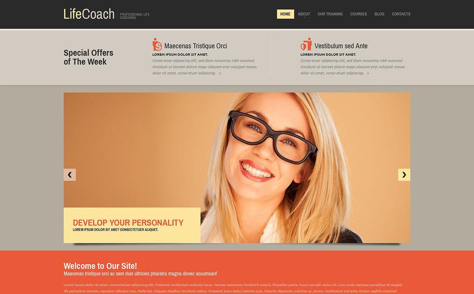 Responzivní Šablona webových stránek na téma Životní poradce New Screenshots BIG