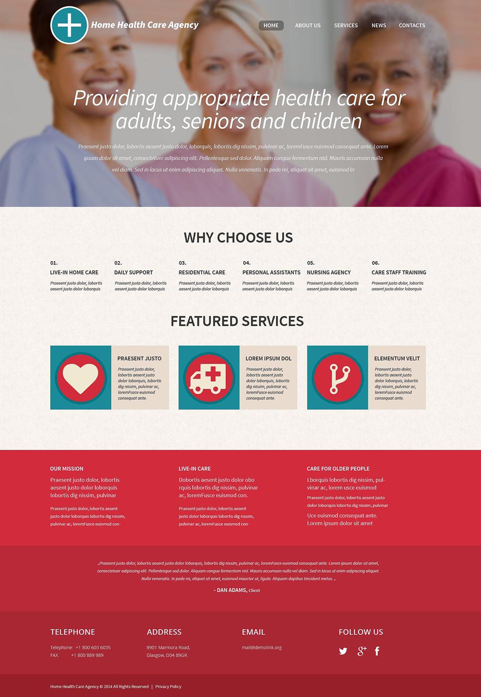 Адаптивный шаблон сайта на тему медицина #52371