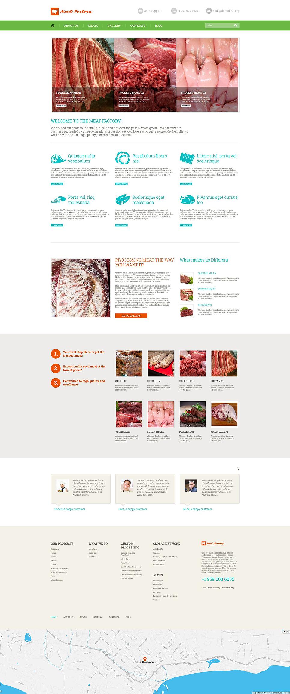 Адаптивный шаблон сайта на тему магазин еды #52374