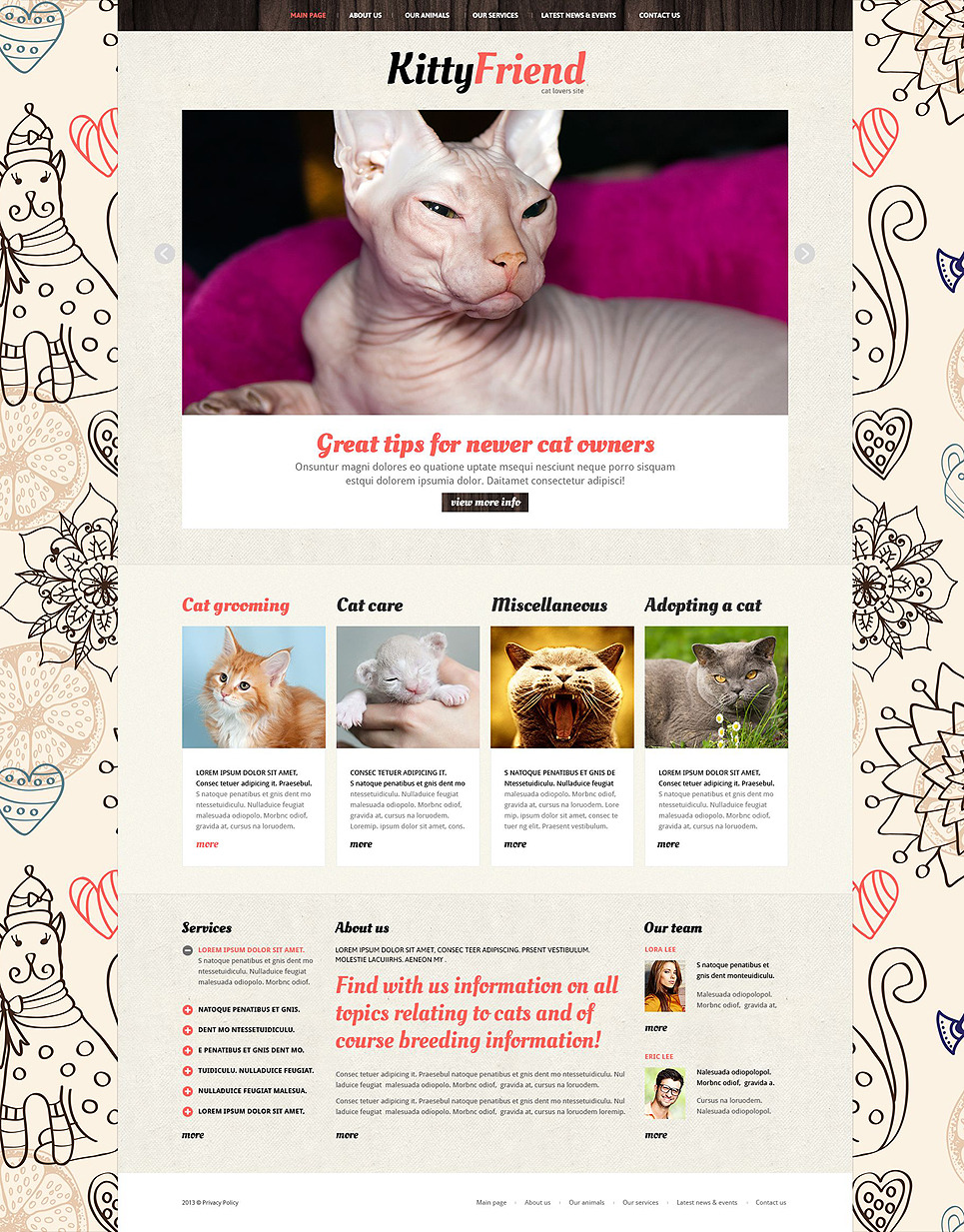 Animals Pets Joomla Template New Screenshots BIG
