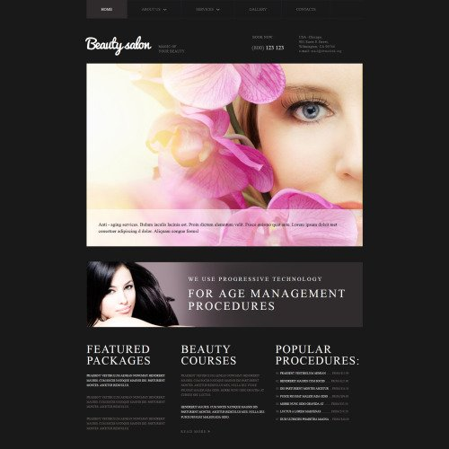 Beauty Salon - MotoCMS 3 Template based on Bootstrap