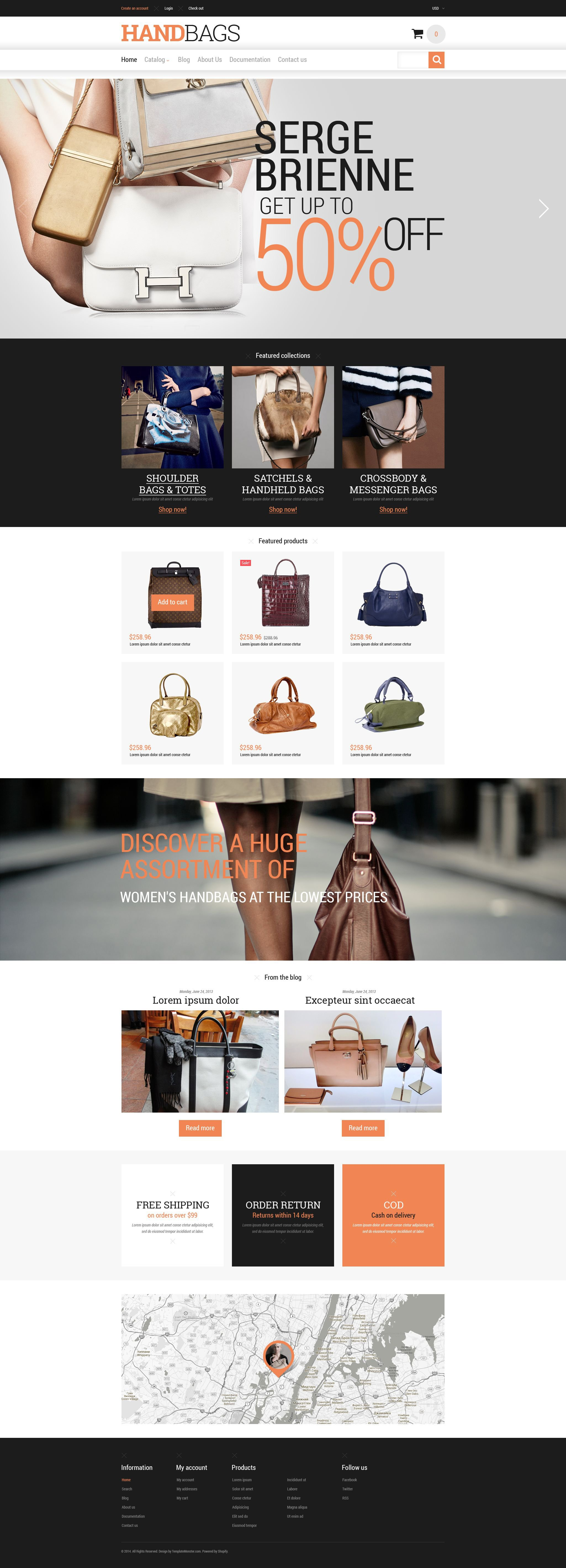 Branded Handbags Shopify Theme - screenshot