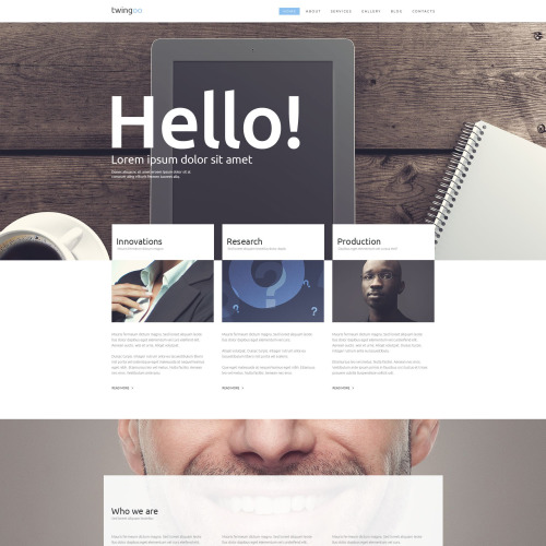 Hello - WordPress Template based on Bootstrap