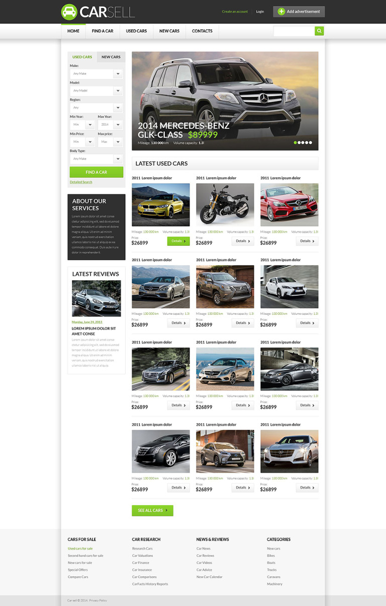 Car Dealer Responsive Website Template New Screenshots BIG