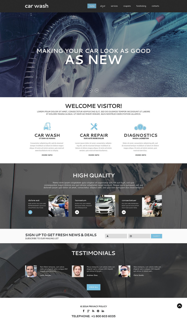 Car Wash Responsive Website Template New Screenshots BIG