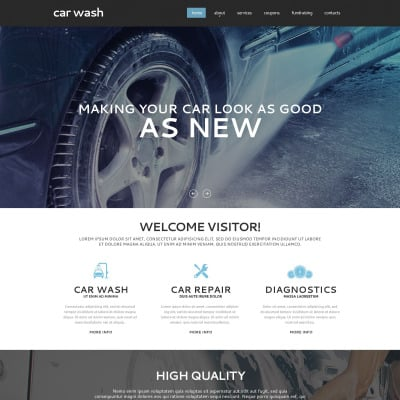 Car wash website template 14790 for Car wash coupon template